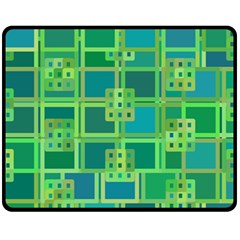 Green Abstract Geometric Fleece Blanket (medium)  by Nexatart
