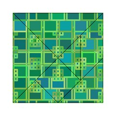 Green Abstract Geometric Acrylic Tangram Puzzle (6  X 6 )