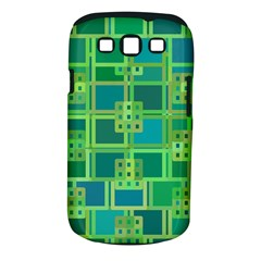 Green Abstract Geometric Samsung Galaxy S Iii Classic Hardshell Case (pc+silicone)