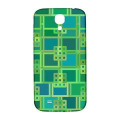 Green Abstract Geometric Samsung Galaxy S4 I9500/i9505  Hardshell Back Case by Nexatart