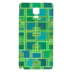 Green Abstract Geometric Galaxy Note 4 Back Case