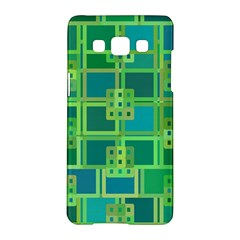 Green Abstract Geometric Samsung Galaxy A5 Hardshell Case  by Nexatart