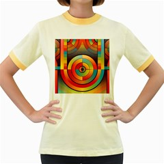 Abstract Pattern Background Women s Fitted Ringer T Shirts
