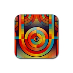 Abstract Pattern Background Rubber Coaster (square)