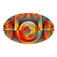 Abstract Pattern Background Oval Magnet by Nexatart