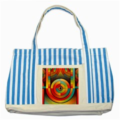 Abstract Pattern Background Striped Blue Tote Bag