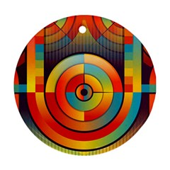 Abstract Pattern Background Round Ornament (two Sides)