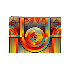 Abstract Pattern Background Cosmetic Bag (large)  by Nexatart