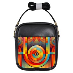 Abstract Pattern Background Girls Sling Bags by Nexatart