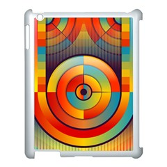 Abstract Pattern Background Apple Ipad 3/4 Case (white)