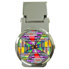 Art Vanishing Point Vortex 3d Money Clip Watches by Nexatart
