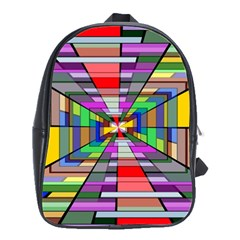 Art Vanishing Point Vortex 3d School Bags(large)  by Nexatart