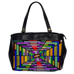 Art Vanishing Point Vortex 3d Office Handbags by Nexatart