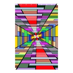 Art Vanishing Point Vortex 3d Shower Curtain 48  X 72  (small)  by Nexatart