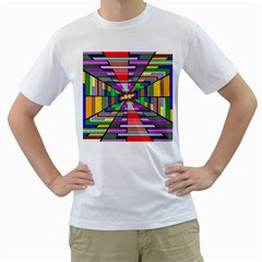 Art Vanishing Point Vortex 3d Men s T Shirt (white)