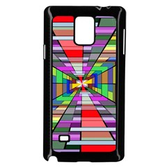 Art Vanishing Point Vortex 3d Samsung Galaxy Note 4 Case (black)