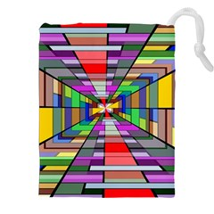 Art Vanishing Point Vortex 3d Drawstring Pouches (xxl) by Nexatart