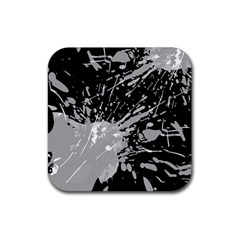 Art About Ball Abstract Colorful Rubber Coaster (square)