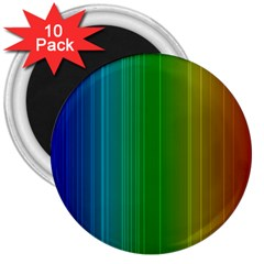 Spectrum Colours Colors Rainbow 3  Magnets (10 Pack)  by Nexatart