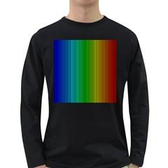 Spectrum Colours Colors Rainbow Long Sleeve Dark T Shirts