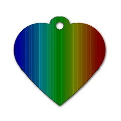 Spectrum Colours Colors Rainbow Dog Tag Heart (one Side)