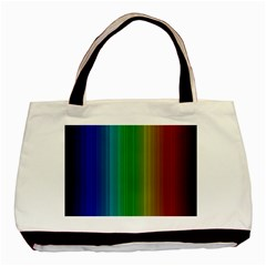 Spectrum Colours Colors Rainbow Basic Tote Bag (two Sides) by Nexatart