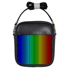 Spectrum Colours Colors Rainbow Girls Sling Bags by Nexatart