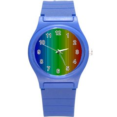 Spectrum Colours Colors Rainbow Round Plastic Sport Watch (s) by Nexatart