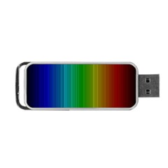 Spectrum Colours Colors Rainbow Portable Usb Flash (two Sides) by Nexatart
