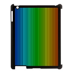 Spectrum Colours Colors Rainbow Apple Ipad 3/4 Case (black) by Nexatart