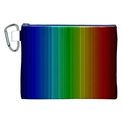 Spectrum Colours Colors Rainbow Canvas Cosmetic Bag (xxl) by Nexatart
