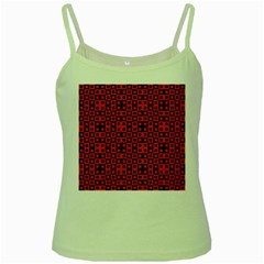 Abstract Background Red Black Green Spaghetti Tank