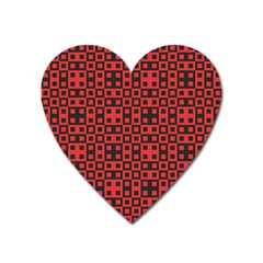 Abstract Background Red Black Heart Magnet by Nexatart