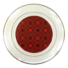Abstract Background Red Black Porcelain Plates