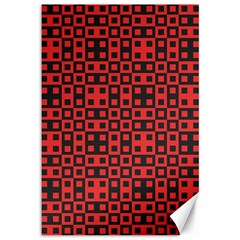 Abstract Background Red Black Canvas 12  X 18   by Nexatart