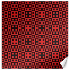 Abstract Background Red Black Canvas 16  X 16   by Nexatart