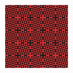 Abstract Background Red Black Medium Glasses Cloth (2 Side)