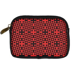 Abstract Background Red Black Digital Camera Cases by Nexatart