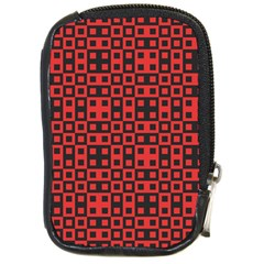 Abstract Background Red Black Compact Camera Cases by Nexatart