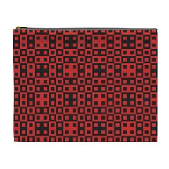 Abstract Background Red Black Cosmetic Bag (xl)