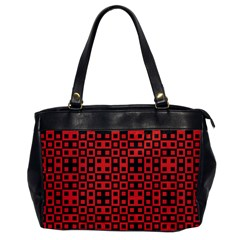 Abstract Background Red Black Office Handbags by Nexatart