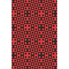Abstract Background Red Black 5.5  x 8.5  Notebooks by Nexatart