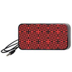 Abstract Background Red Black Portable Speaker (black)