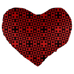 Abstract Background Red Black Large 19  Premium Heart Shape Cushions