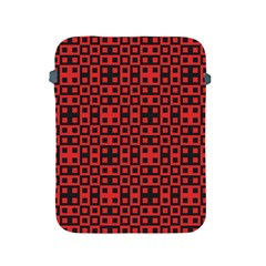 Abstract Background Red Black Apple Ipad 2/3/4 Protective Soft Cases by Nexatart