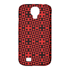 Abstract Background Red Black Samsung Galaxy S4 Classic Hardshell Case (pc+silicone)