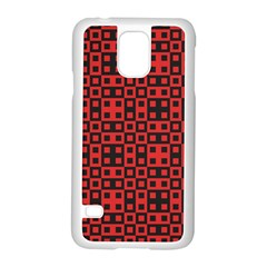 Abstract Background Red Black Samsung Galaxy S5 Case (white)