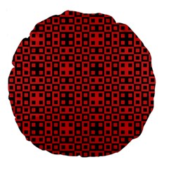 Abstract Background Red Black Large 18  Premium Flano Round Cushions by Nexatart