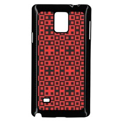 Abstract Background Red Black Samsung Galaxy Note 4 Case (black) by Nexatart