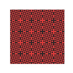 Abstract Background Red Black Small Satin Scarf (square) by Nexatart